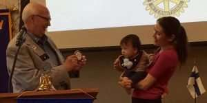Rotary District Governor Welcomes Youngest Member